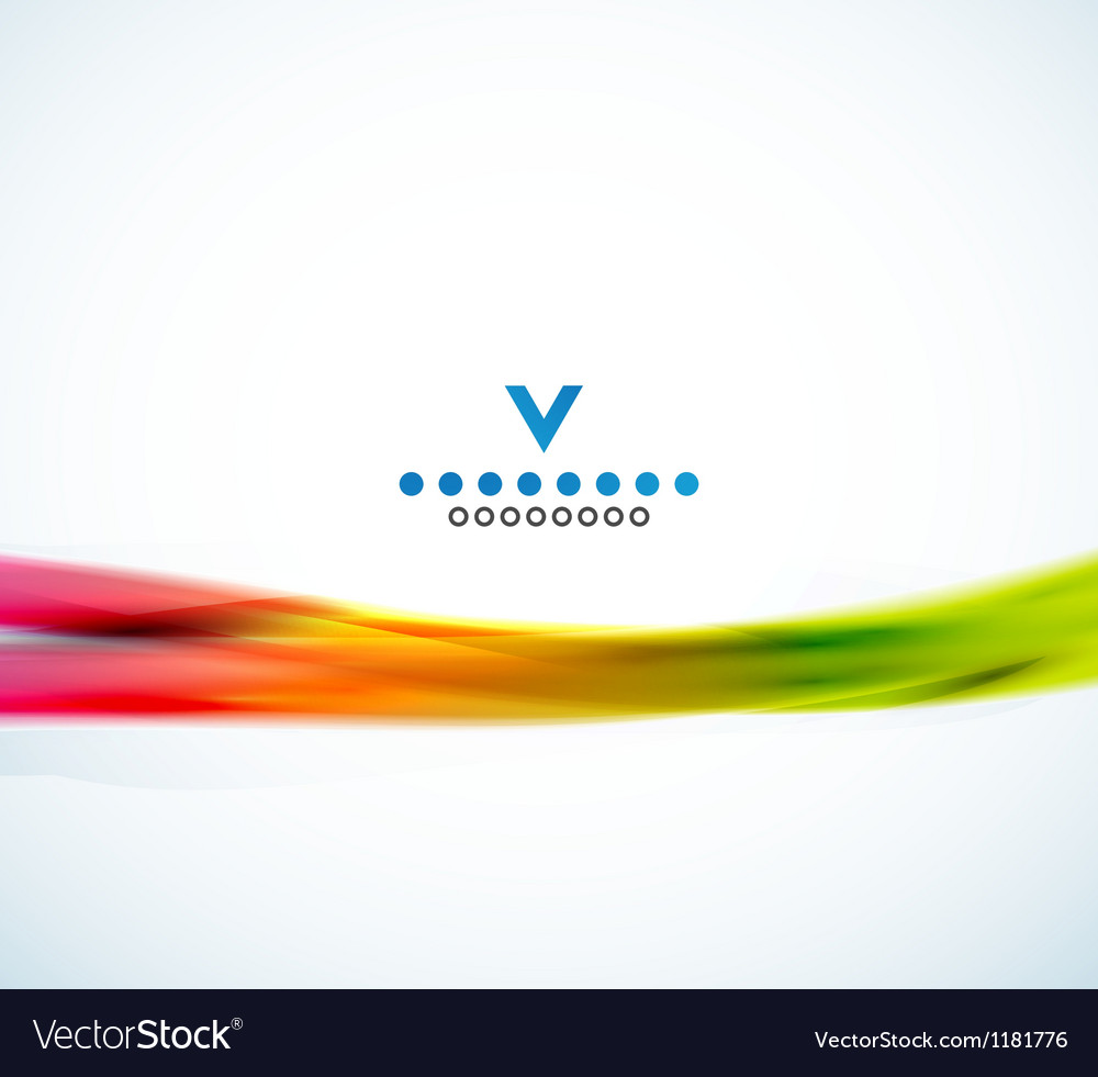 Colorful narrow wave abstract design template vector | Price: 1 Credit (USD $1)