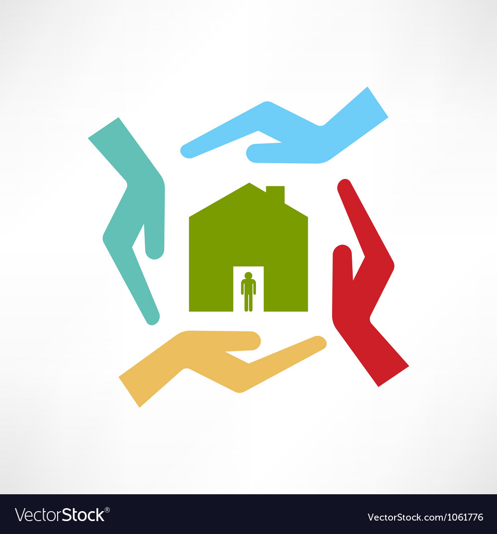 The concept of safe houses vector | Price: 1 Credit (USD $1)