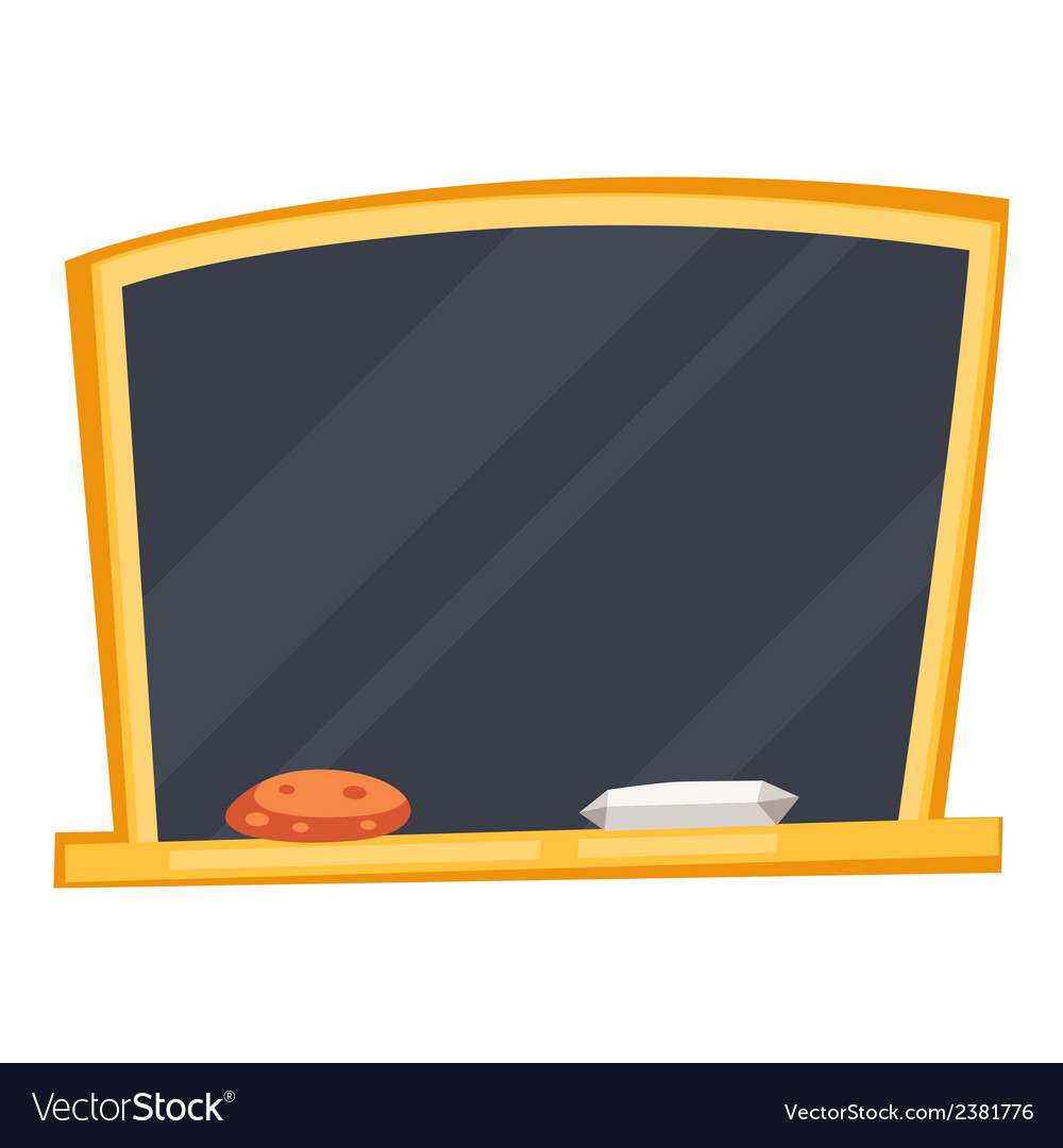 Empty black school board with sponge and chalk vector | Price: 1 Credit (USD $1)