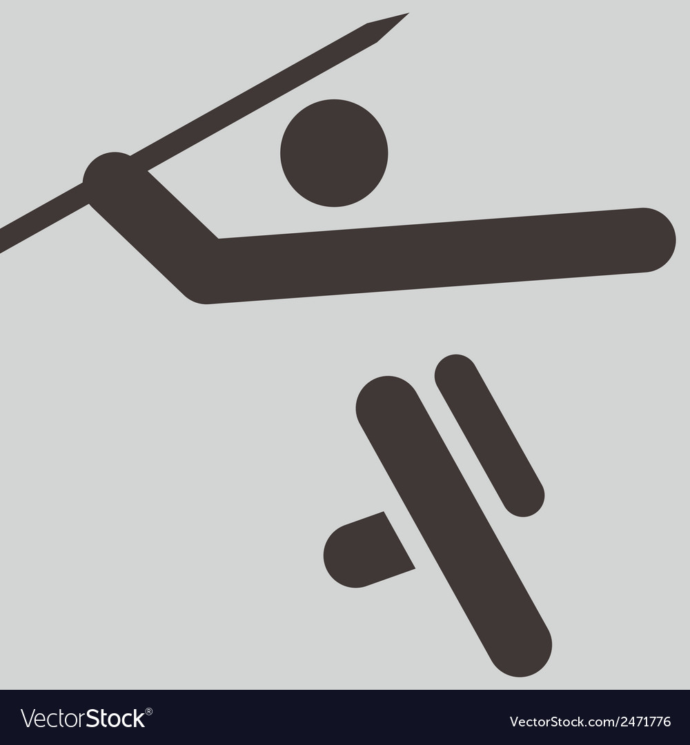 Javelin throw icon vector | Price: 1 Credit (USD $1)
