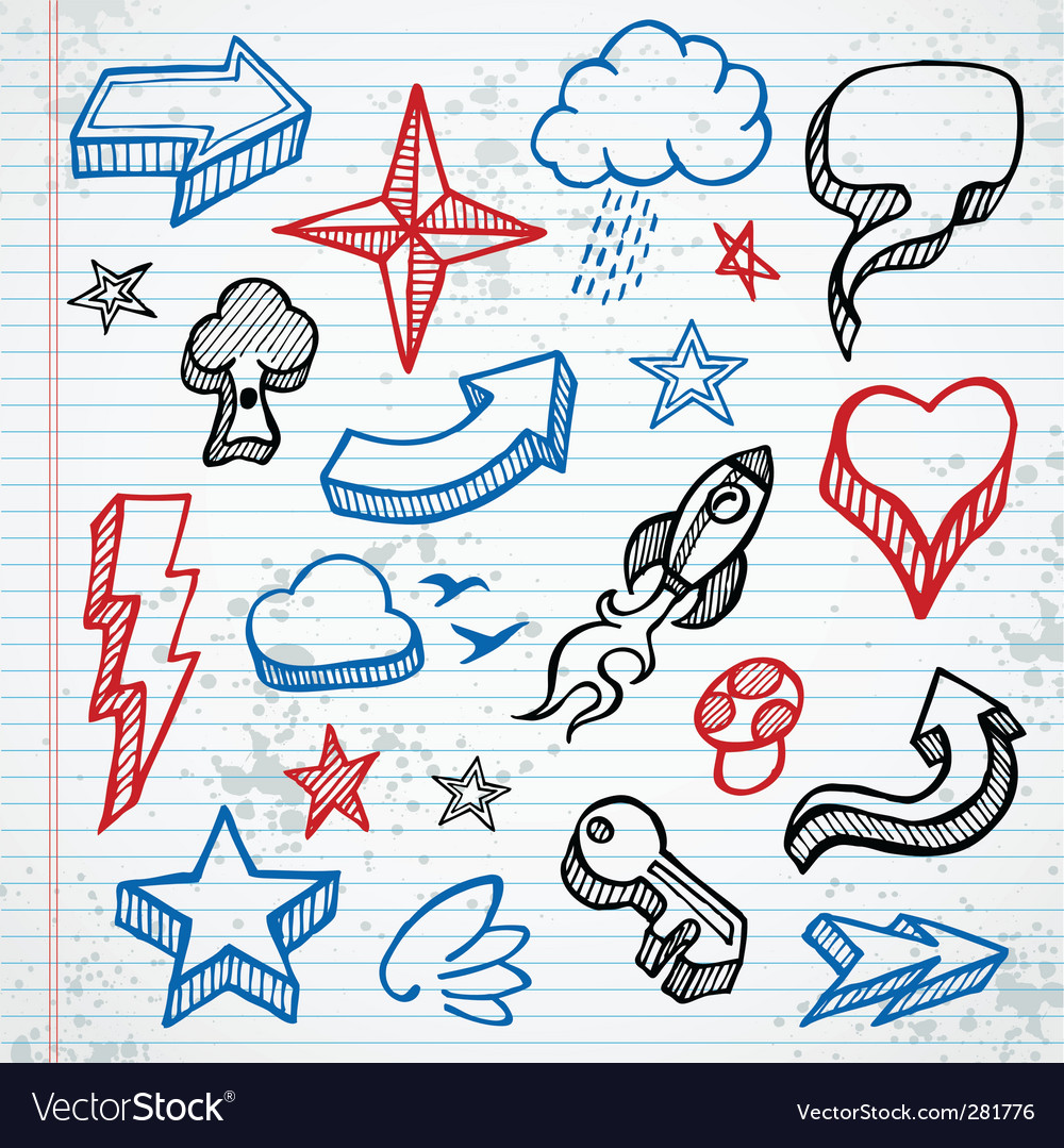 Sketchy icons vector | Price: 3 Credit (USD $3)