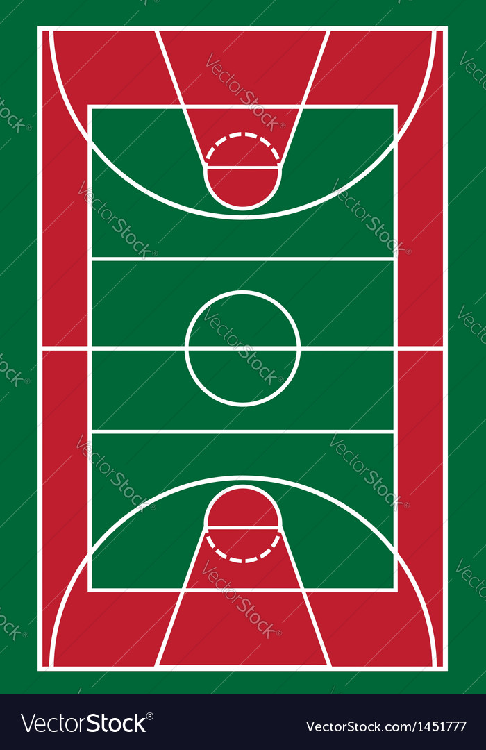 Basketball court vector | Price: 1 Credit (USD $1)