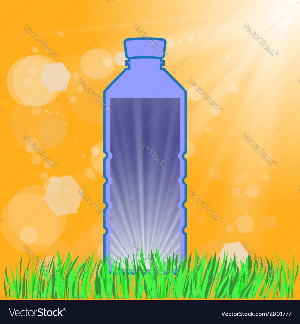 Bottle of water vector | Price: 1 Credit (USD $1)