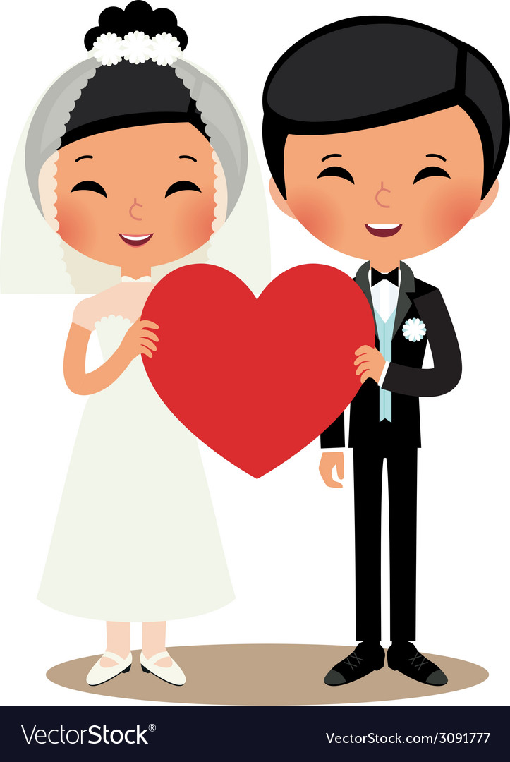 Chinese couple bride and groom vector | Price: 1 Credit (USD $1)