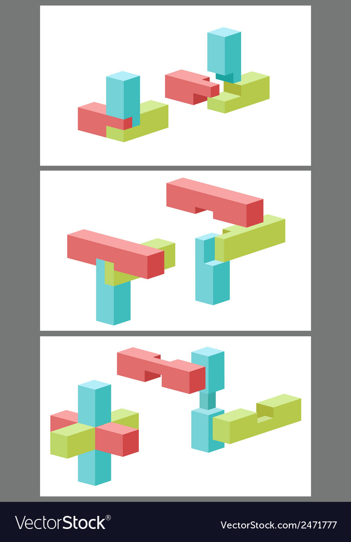 Connection of details a toy building kit vector | Price: 1 Credit (USD $1)