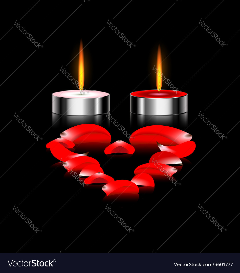 Couple of candles vector | Price: 1 Credit (USD $1)