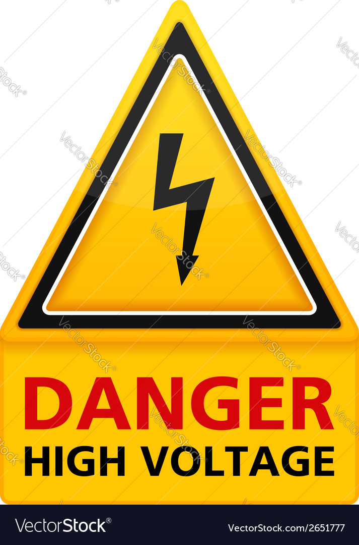 Danger high voltage sign vector | Price: 1 Credit (USD $1)