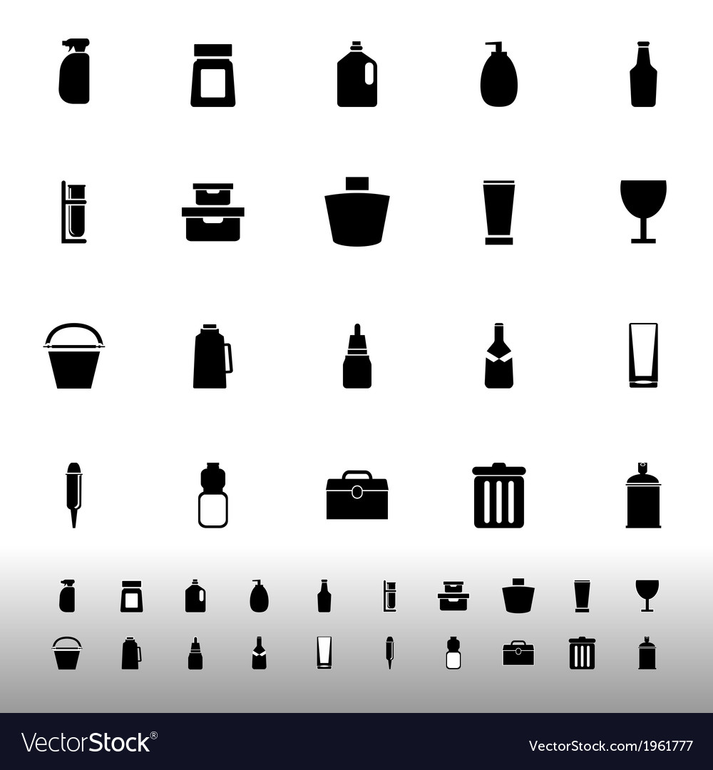 Design package icons on white background vector | Price: 1 Credit (USD $1)