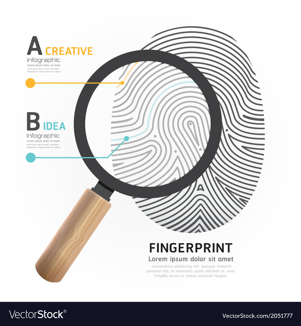 Fingerprint with magnifier vector | Price: 1 Credit (USD $1)