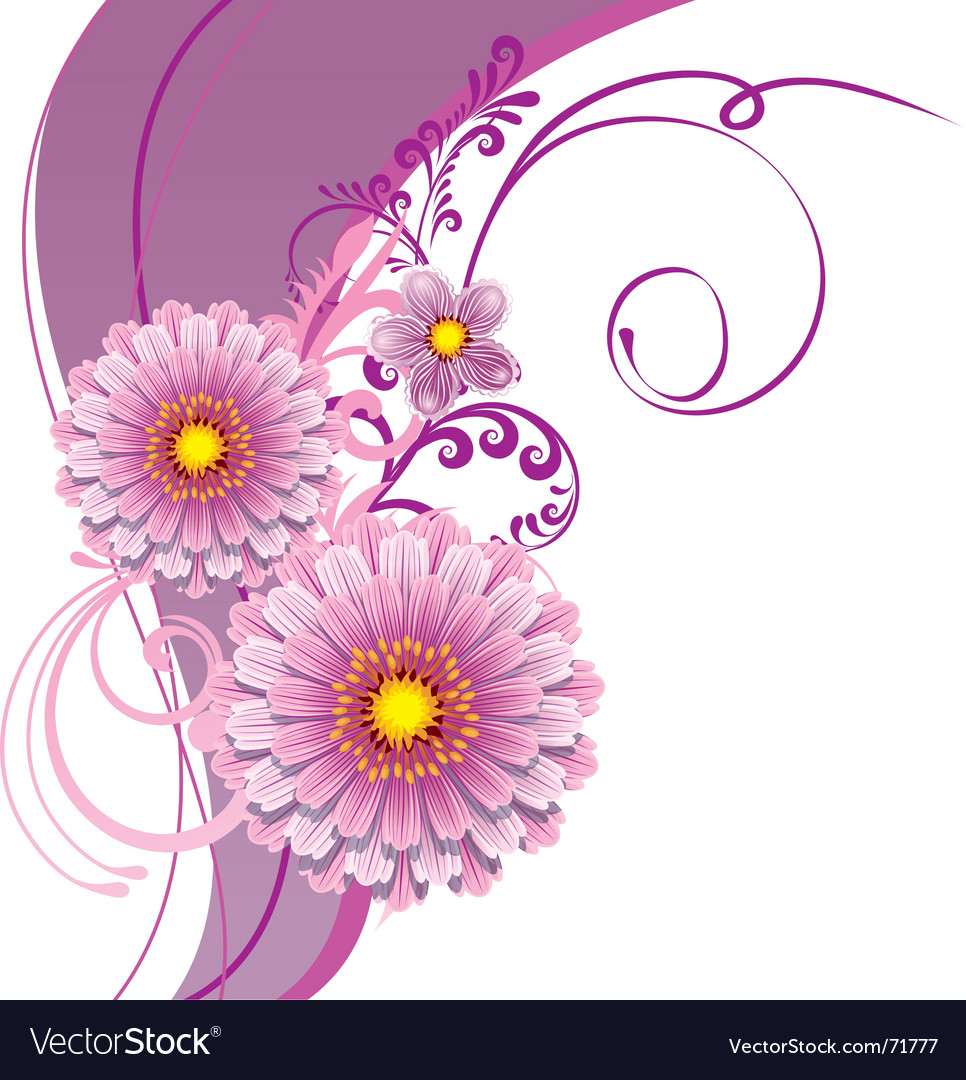 Floral design vector | Price: 1 Credit (USD $1)