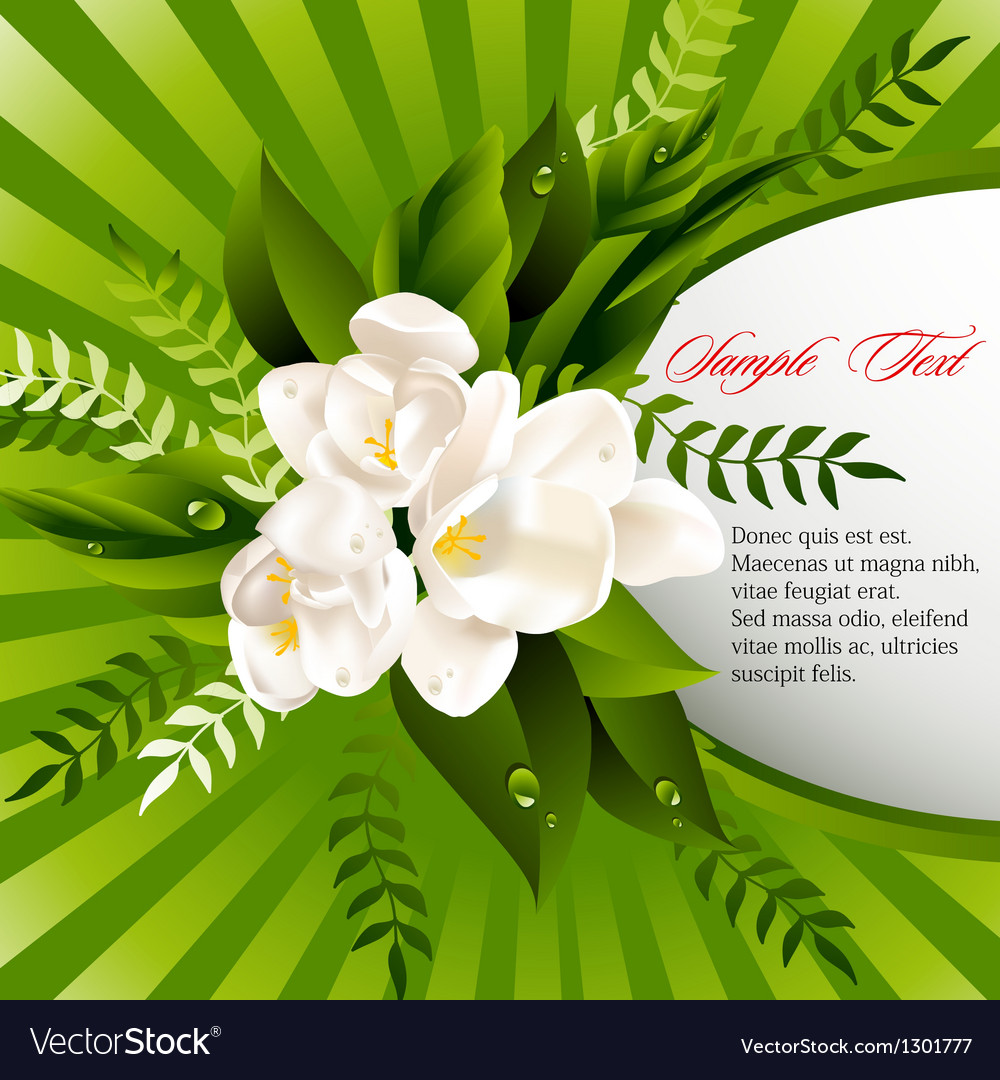 Fresh green abstract spring background vector | Price: 1 Credit (USD $1)