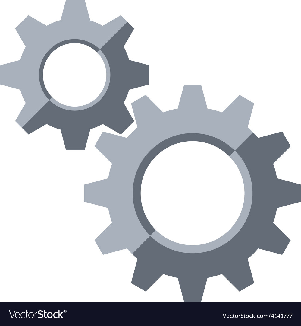 Gears settings symbol vector | Price: 1 Credit (USD $1)