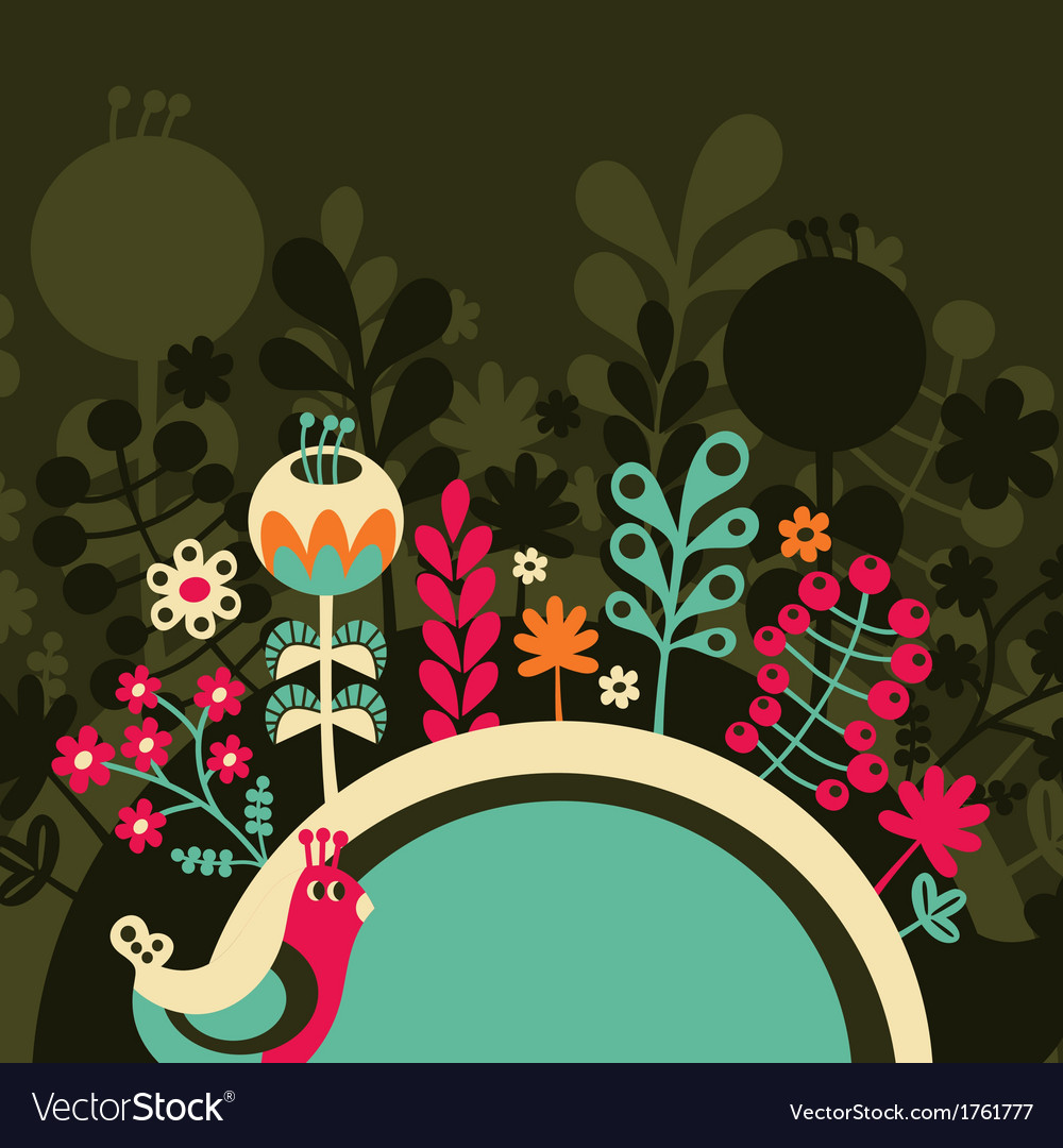 Half round banner with flowers vector | Price: 1 Credit (USD $1)