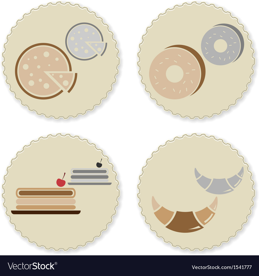 Set of vintage homemade bakery badges vector | Price: 1 Credit (USD $1)