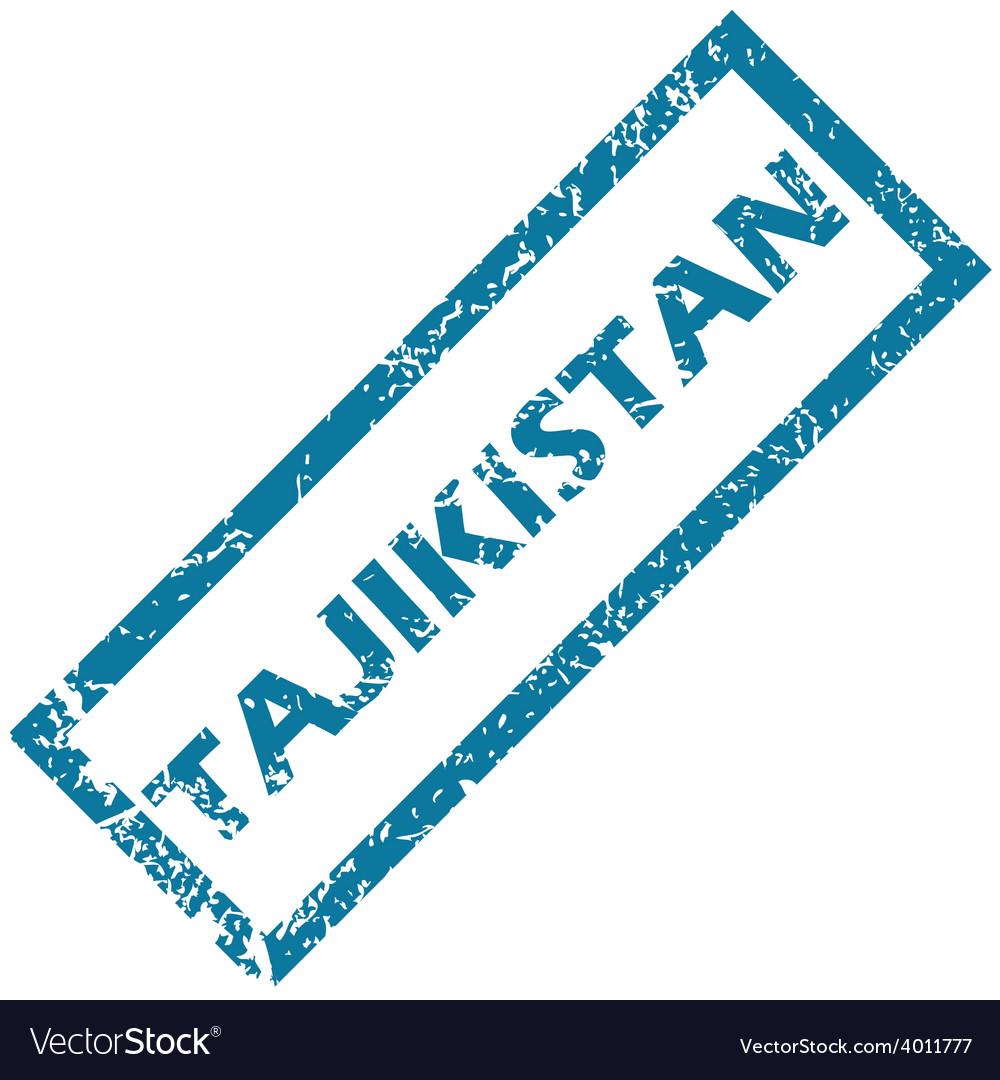 Tajikistan rubber stamp vector | Price: 1 Credit (USD $1)