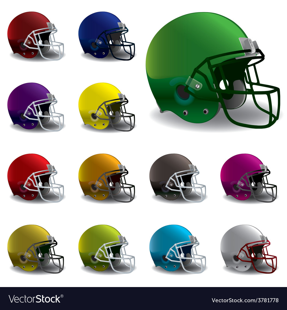 American football helmets vector | Price: 3 Credit (USD $3)