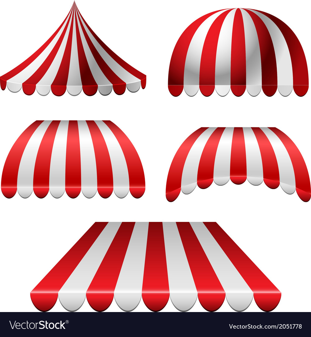 Awning set vector | Price: 1 Credit (USD $1)