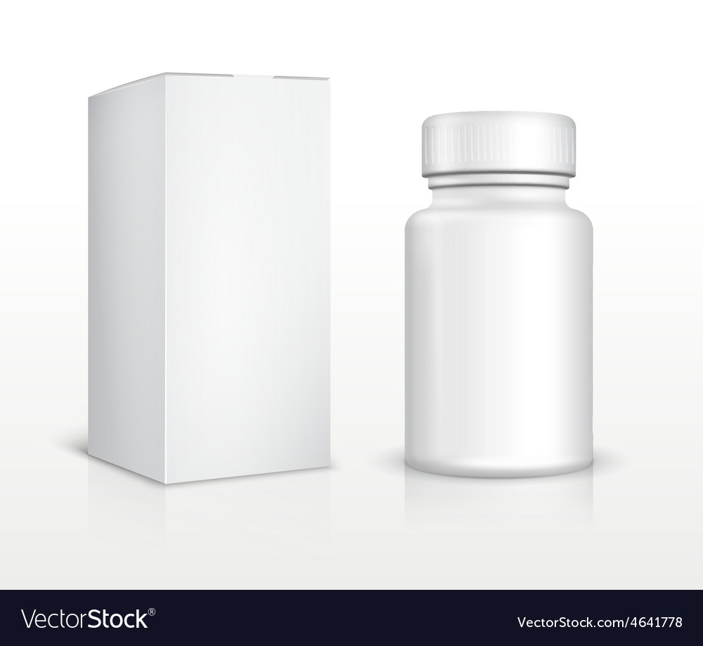 Blank medicine bottle and package box vector | Price: 1 Credit (USD $1)