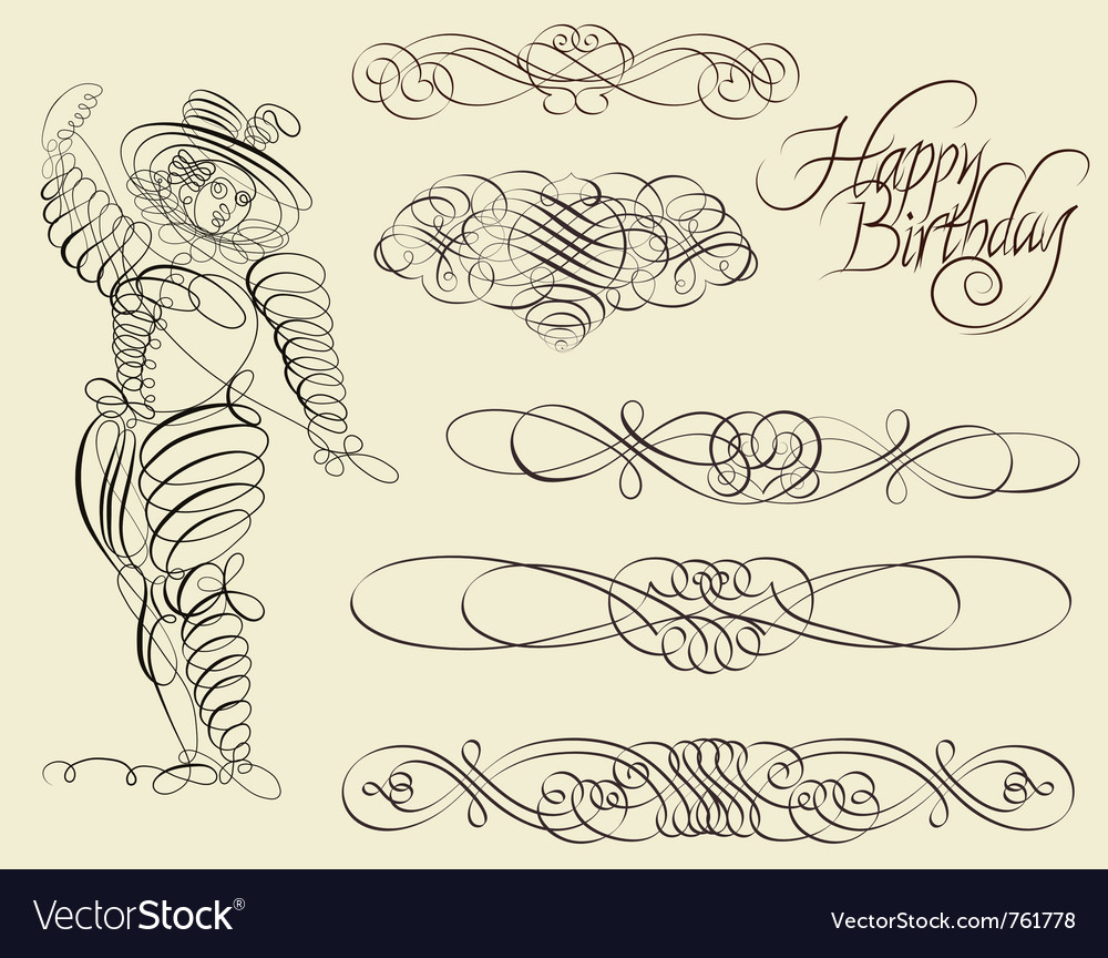 Calligraphic and ornamental designs vector | Price: 1 Credit (USD $1)