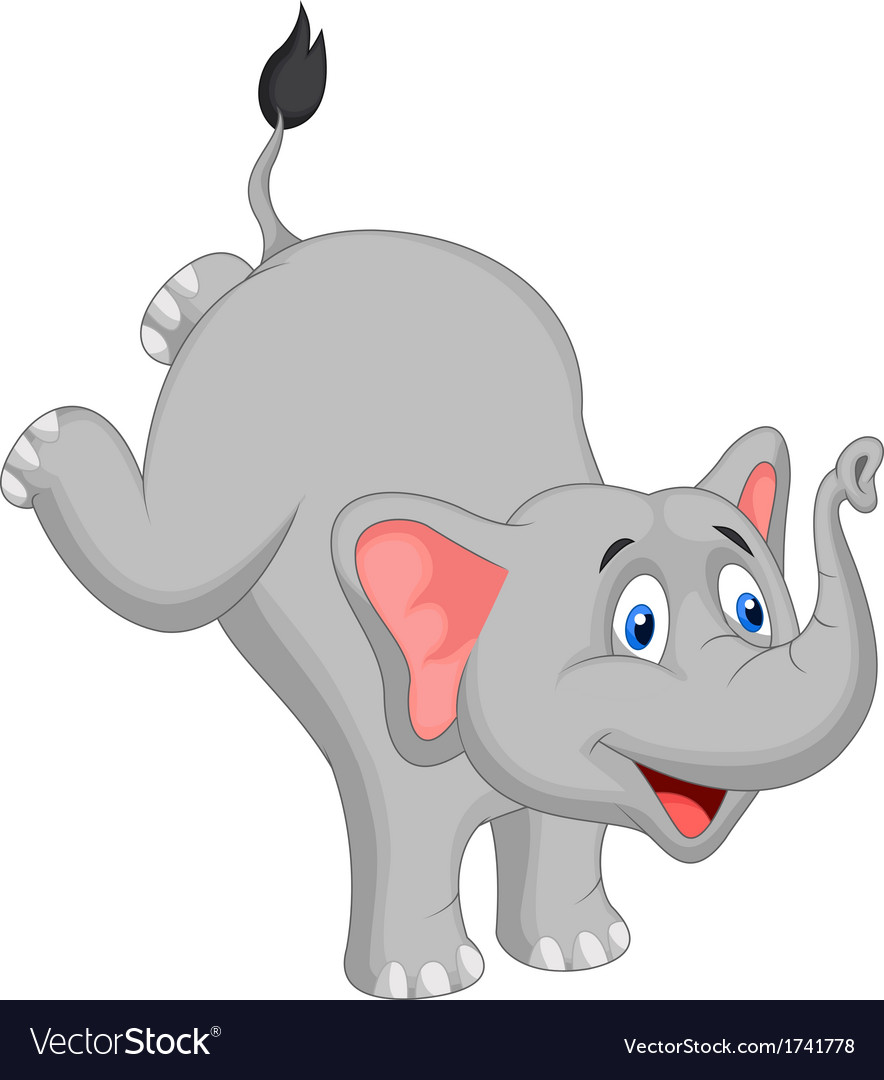 Cute elephant cartoon vector | Price: 1 Credit (USD $1)
