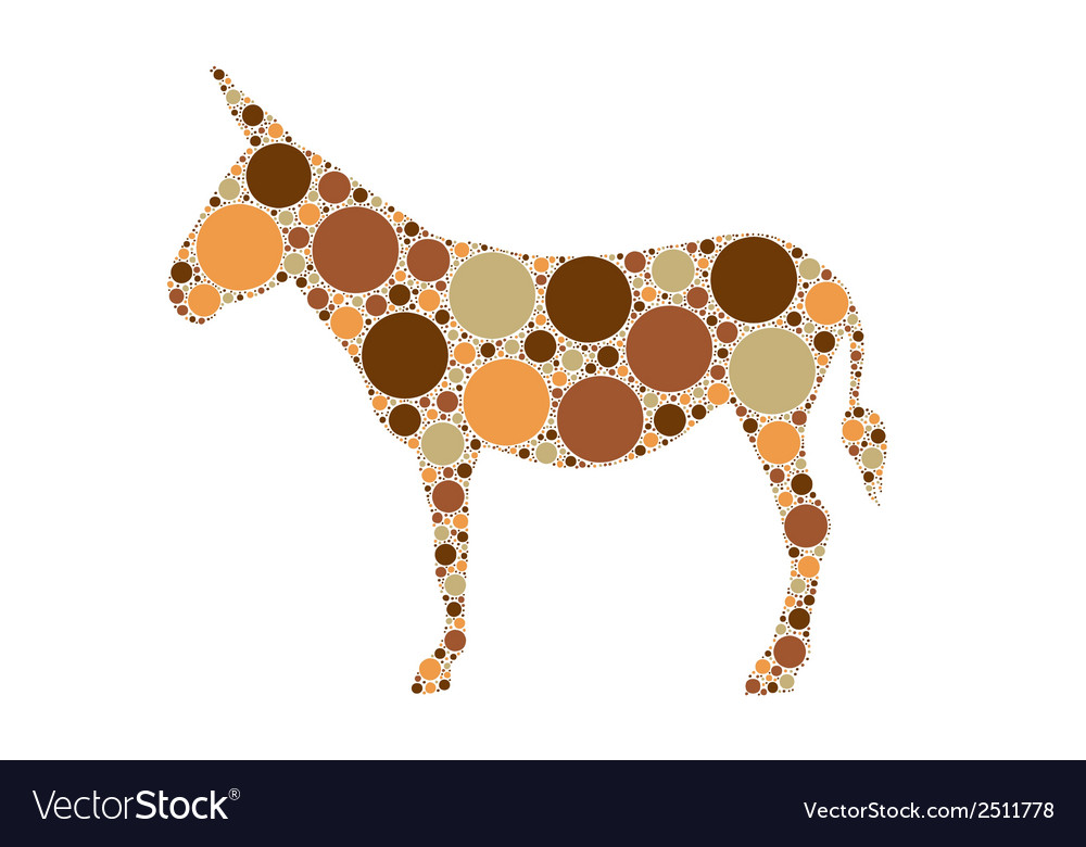 Donkey vector | Price: 1 Credit (USD $1)