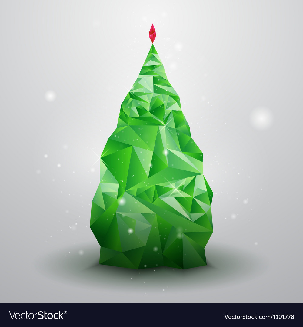Glassy christmas tree vector | Price: 1 Credit (USD $1)