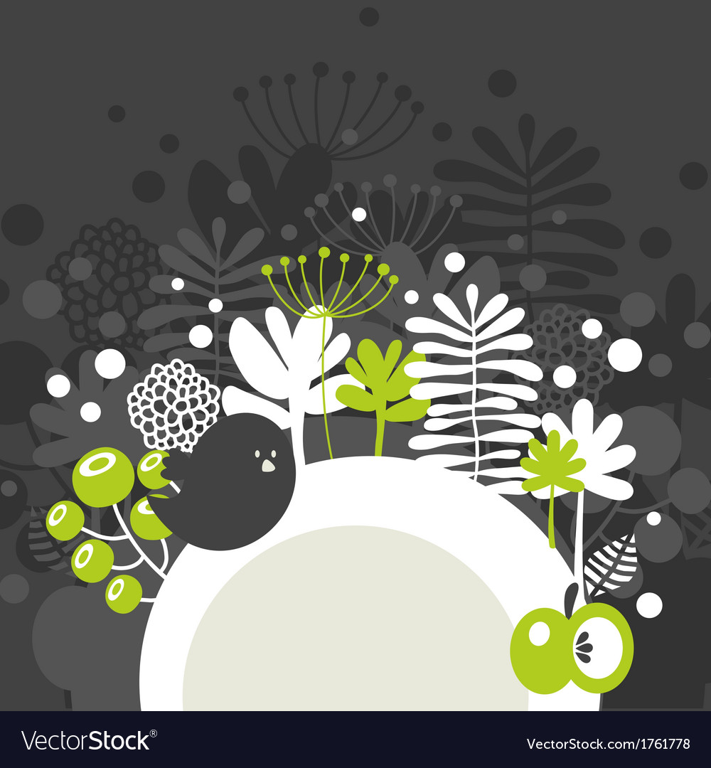 Half round banner with spring nature vector | Price: 1 Credit (USD $1)