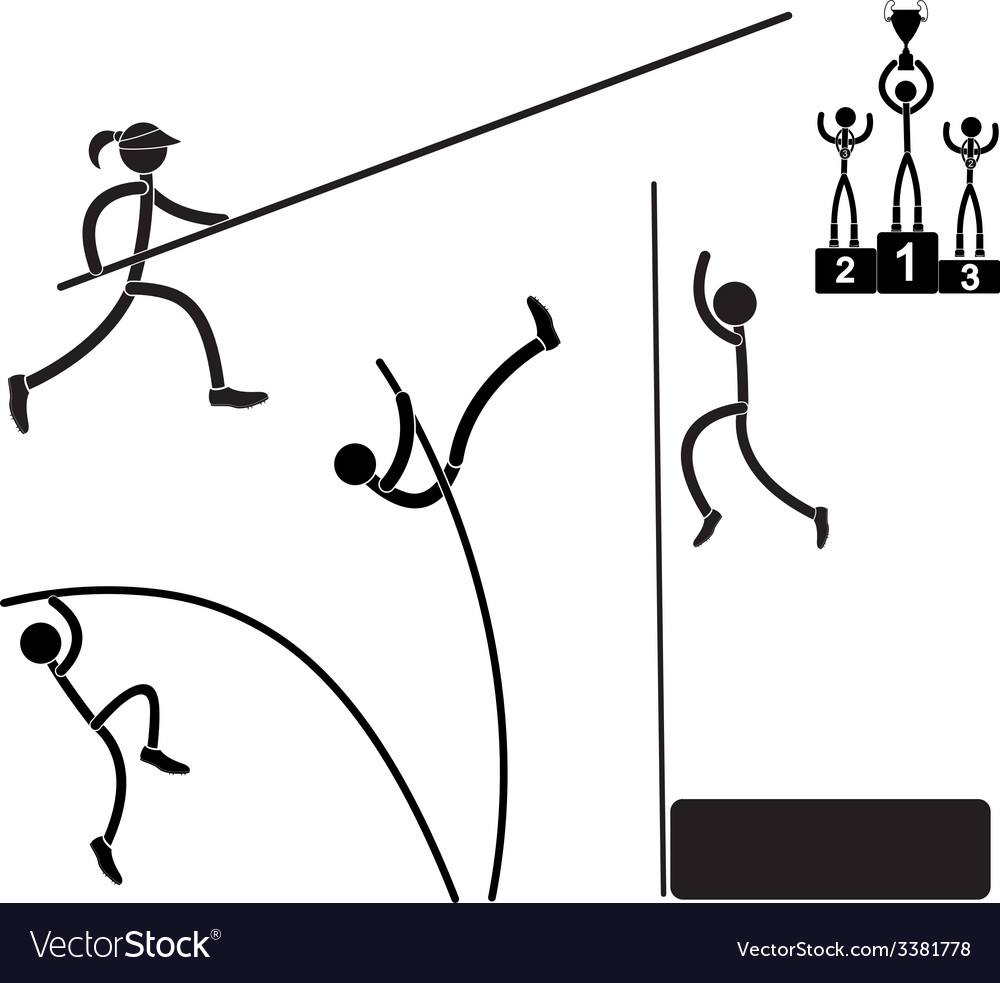 Pole vaults vector | Price: 1 Credit (USD $1)