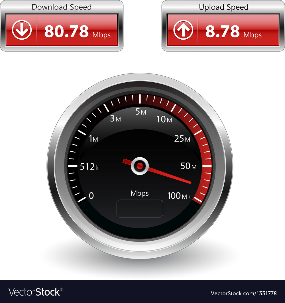 Speed internet test icons vector | Price: 1 Credit (USD $1)