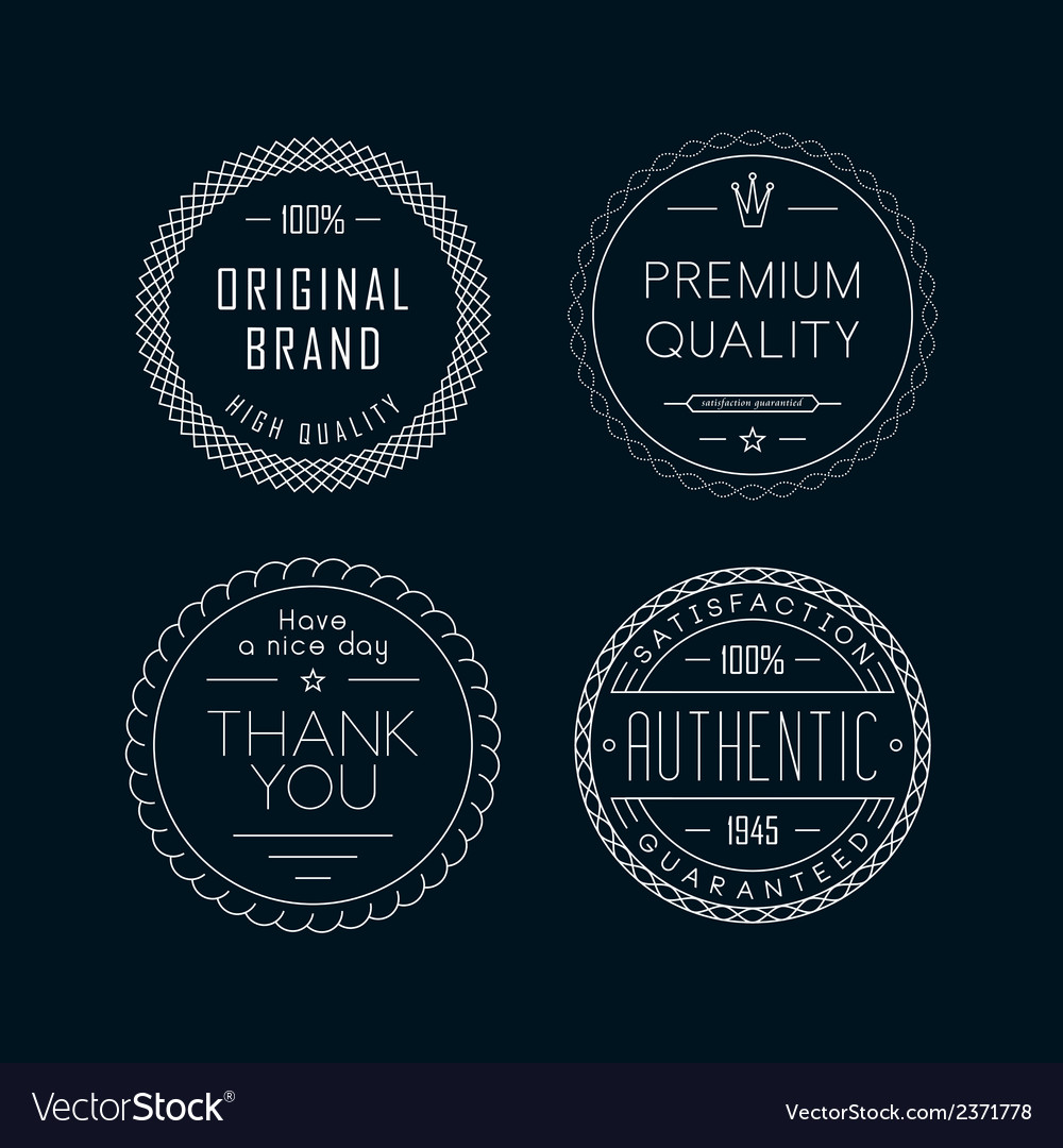 Vintage badges white vector | Price: 1 Credit (USD $1)