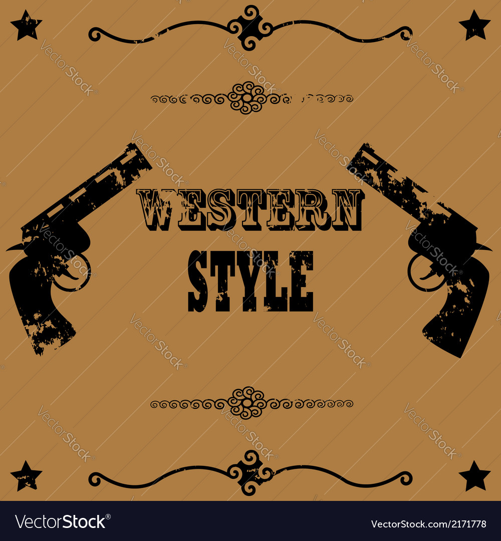 Western style background vector | Price: 1 Credit (USD $1)