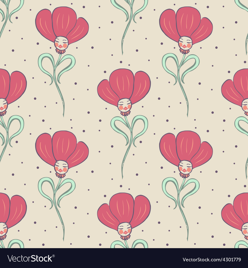 Beige spring or summer seamless pattern vector | Price: 1 Credit (USD $1)
