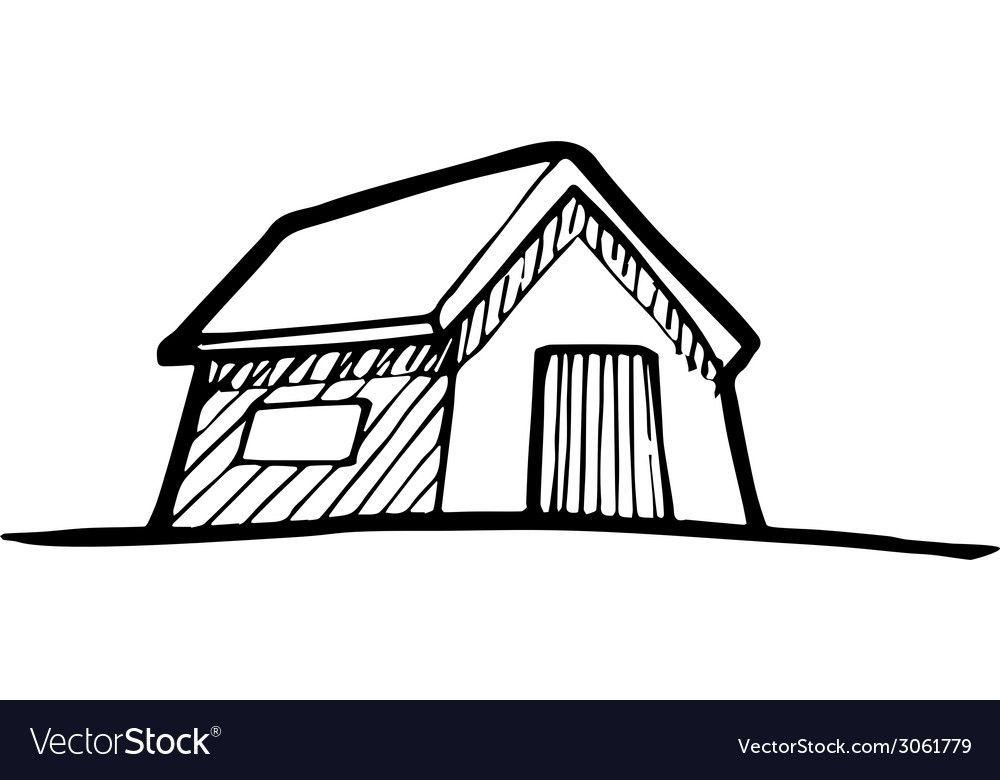 Detached house vector | Price: 1 Credit (USD $1)