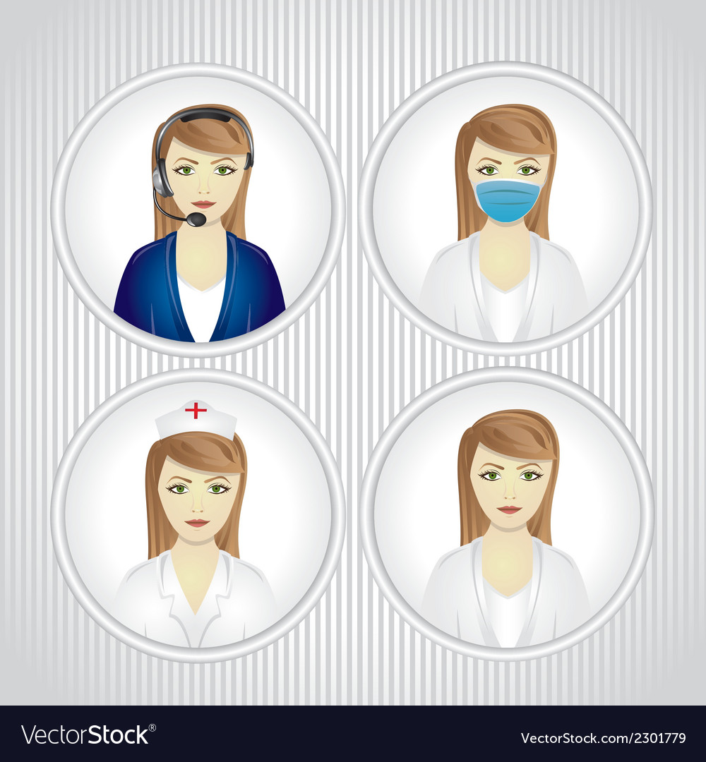 Faceted set of women in labor vector | Price: 1 Credit (USD $1)