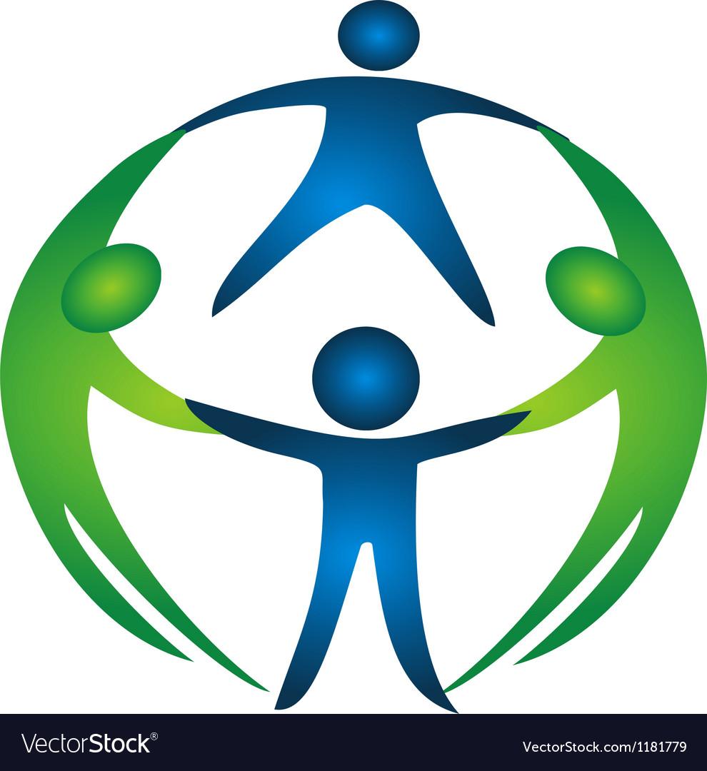 Group of teamwork logo vector | Price: 1 Credit (USD $1)