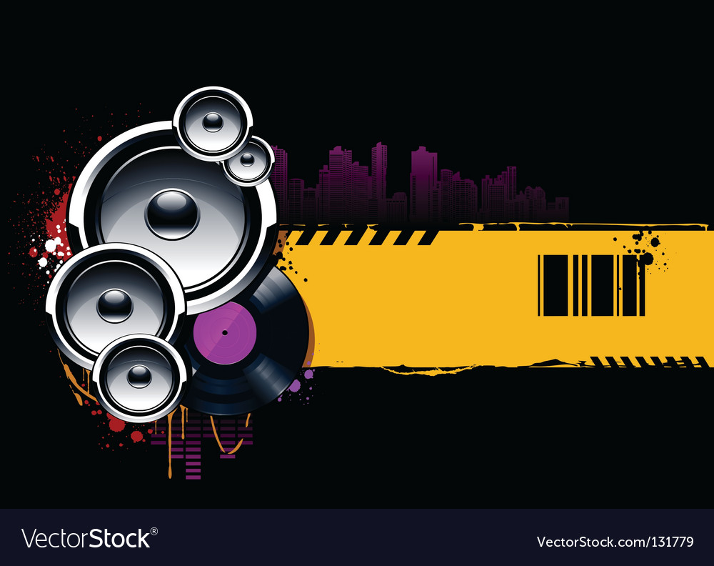 Musical banner vector | Price: 1 Credit (USD $1)