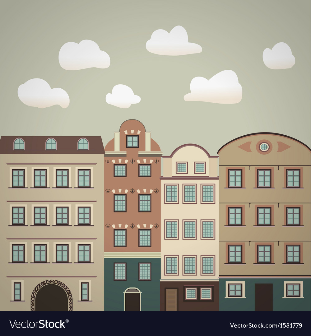 Old town vintage vector | Price: 1 Credit (USD $1)