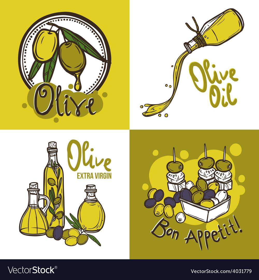 Olive design concept vector | Price: 1 Credit (USD $1)