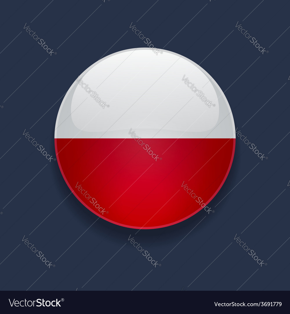 Round icon with flag of poland vector | Price: 1 Credit (USD $1)