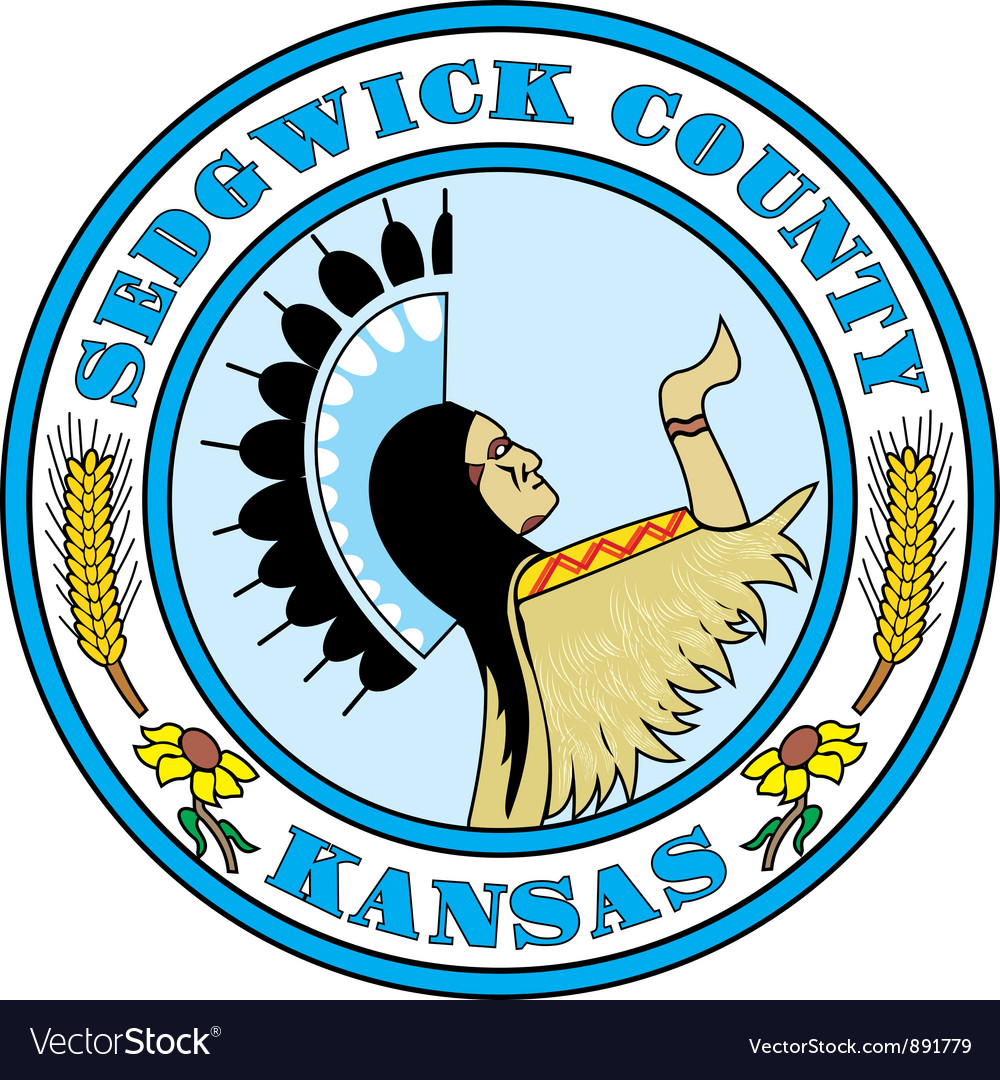 Sedgwick county seal vector | Price: 1 Credit (USD $1)