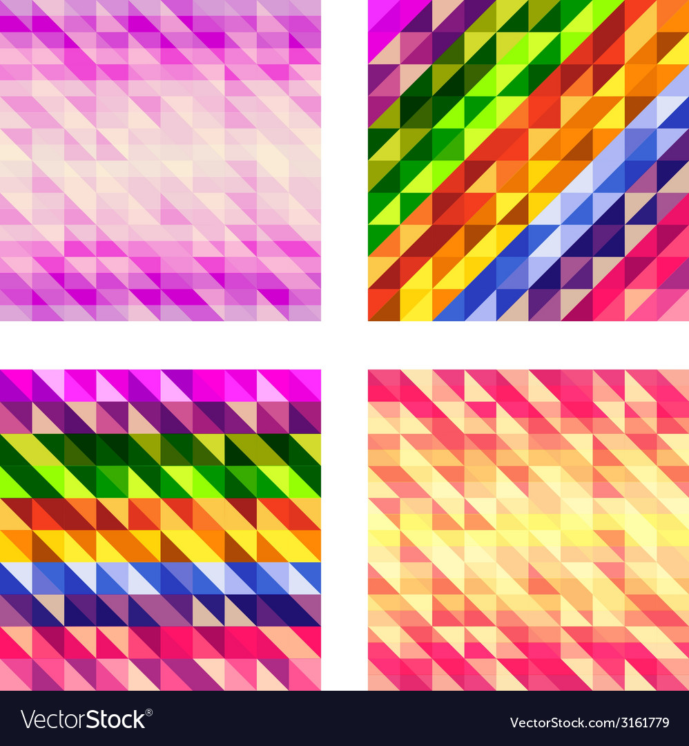 Set of colorful geometric textures vector | Price: 1 Credit (USD $1)