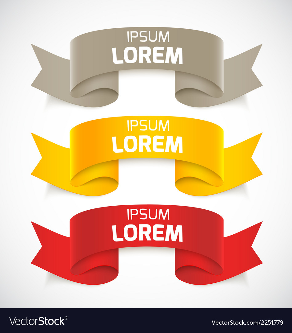 Set of ribbons vector   Price: 1 Credit (USD $1)