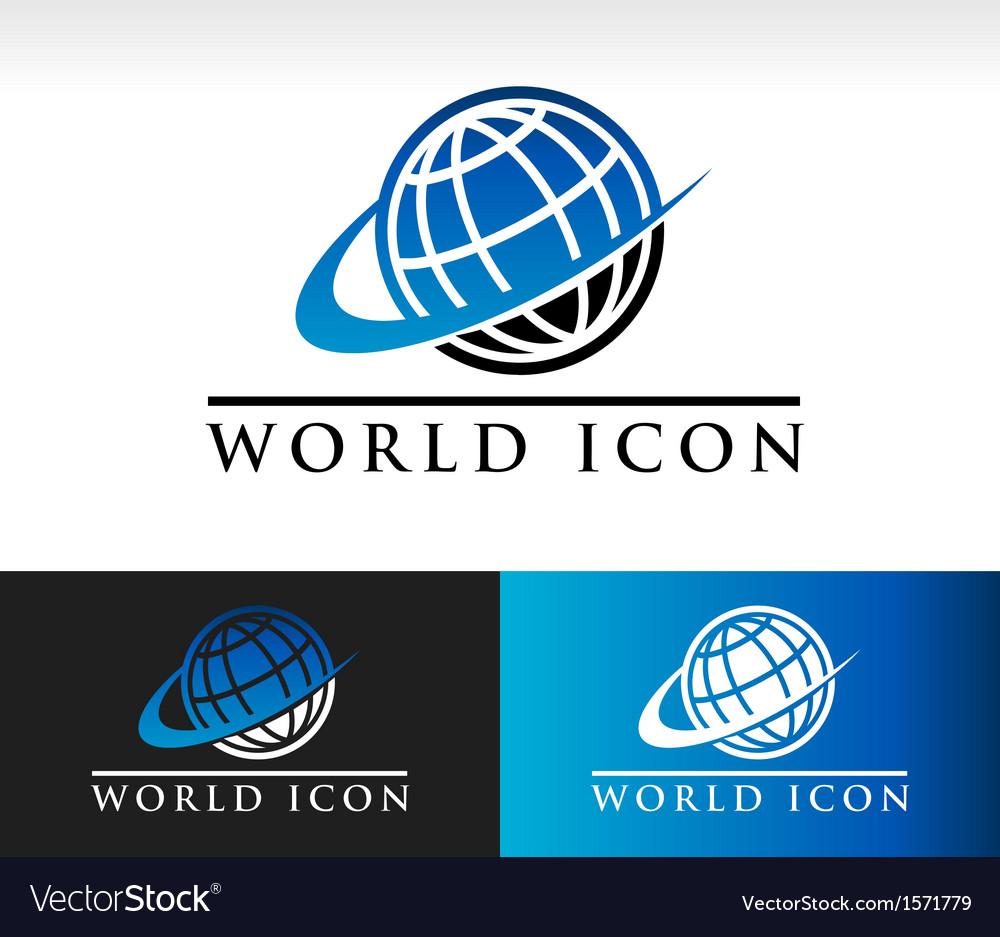 Swoosh world icon vector | Price: 1 Credit (USD $1)