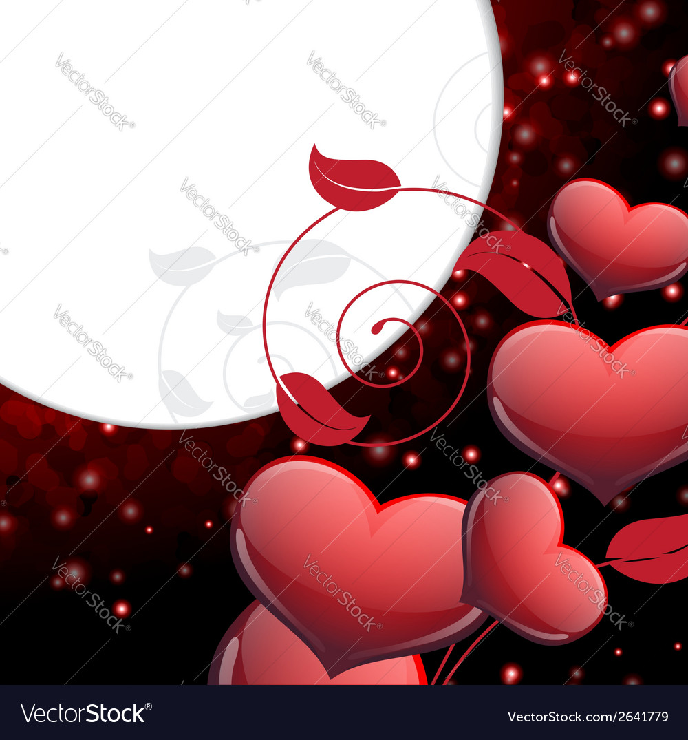 Valentines day sparkling background vector | Price: 1 Credit (USD $1)