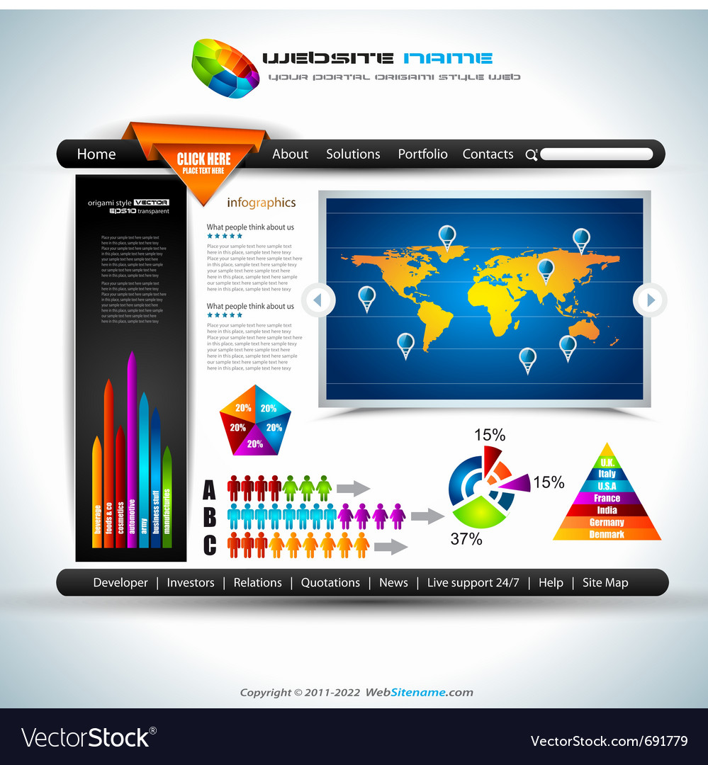 Website infographics vector | Price: 3 Credit (USD $3)