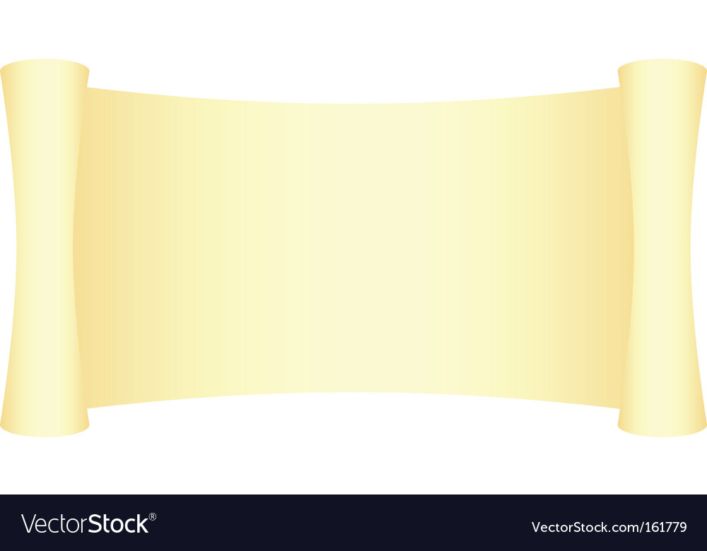 Yellow scroll vector | Price: 1 Credit (USD $1)