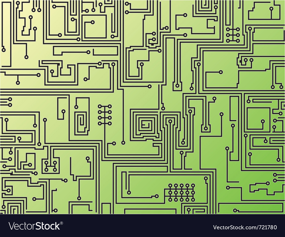 Abstract circuit board background vector | Price: 1 Credit (USD $1)