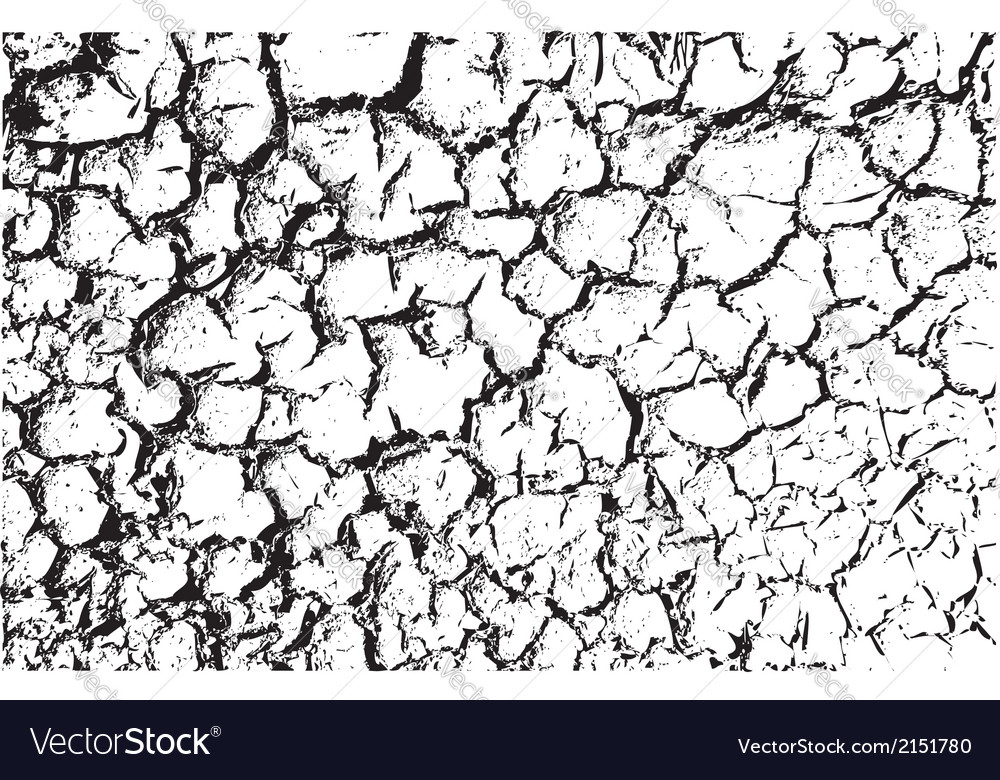 Cracked land texture vector | Price: 1 Credit (USD $1)