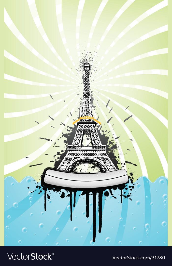 Eiffel tower grunge vector | Price: 1 Credit (USD $1)