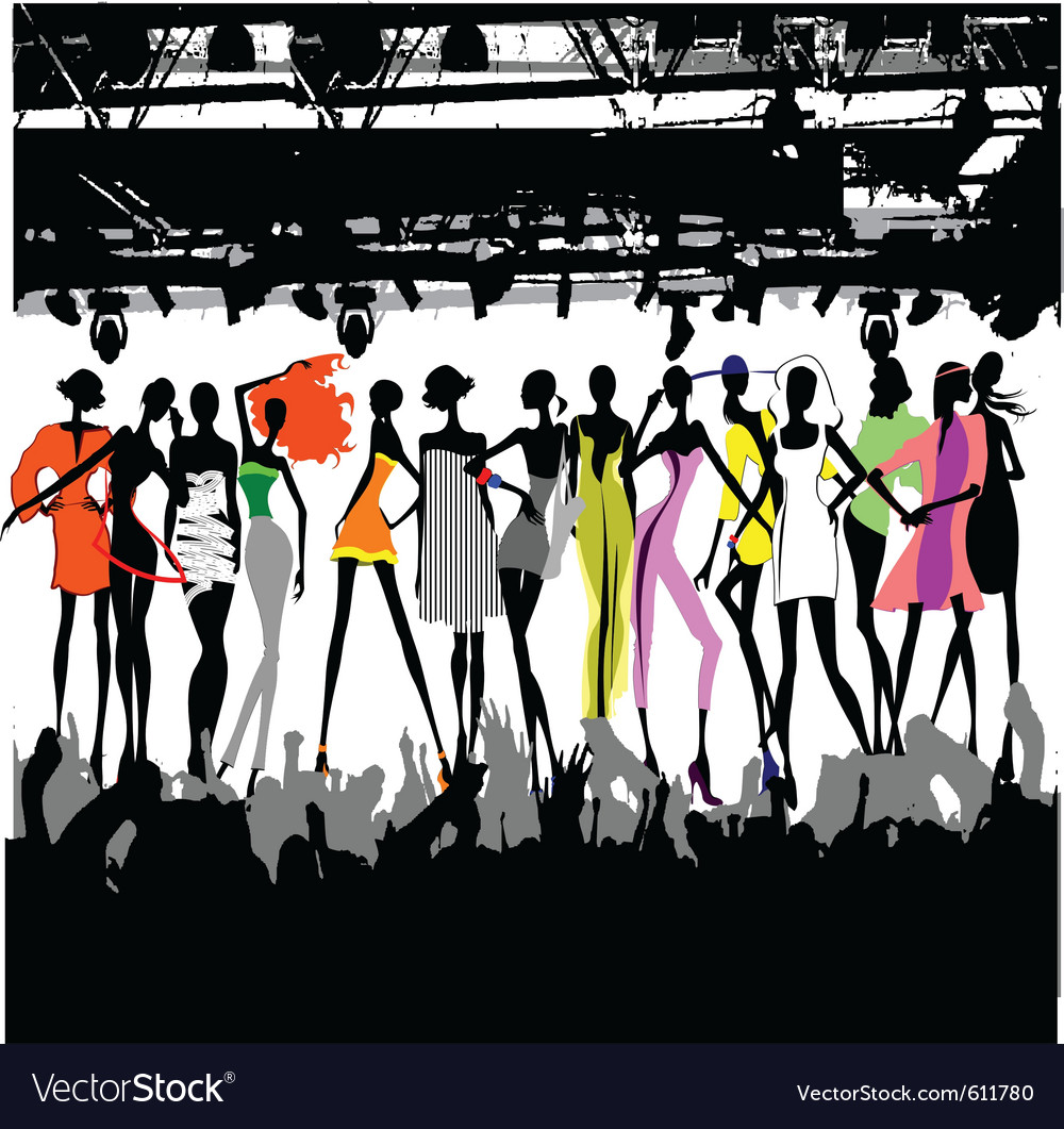 Fashion show crowd vector | Price: 1 Credit (USD $1)